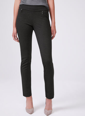 Madison Abstract Stripe Print Pants, Black, hi-res