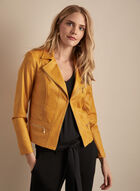 Vex - Faux Leather Jacket, Yellow