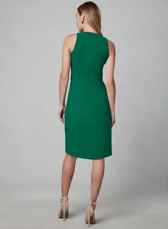 Kensie - Asymmetric Faux Wrap Dress, Green, hi-res