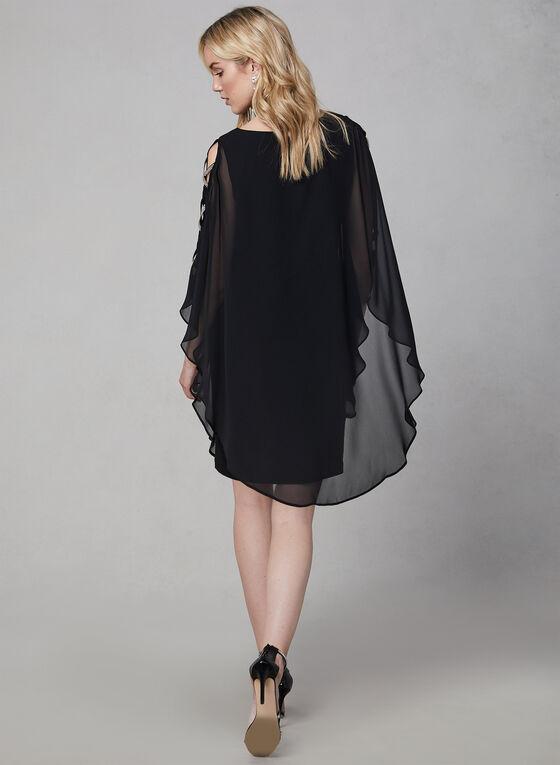 Xscape - Robe en mousseline à détails cristaux, Noir