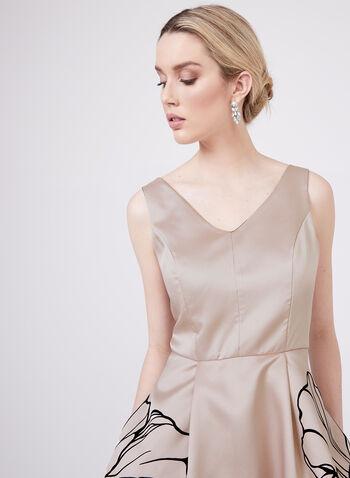 Frank Lyman - High Low Floral Print Dress , Pink, hi-res