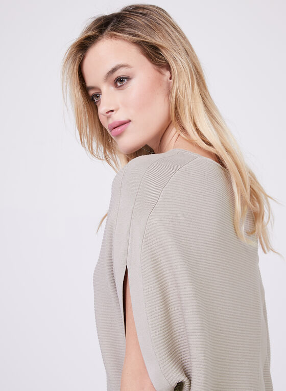 Conrad C – Batwing Sleeve Ottoman Knit Sweater, Off White, hi-res