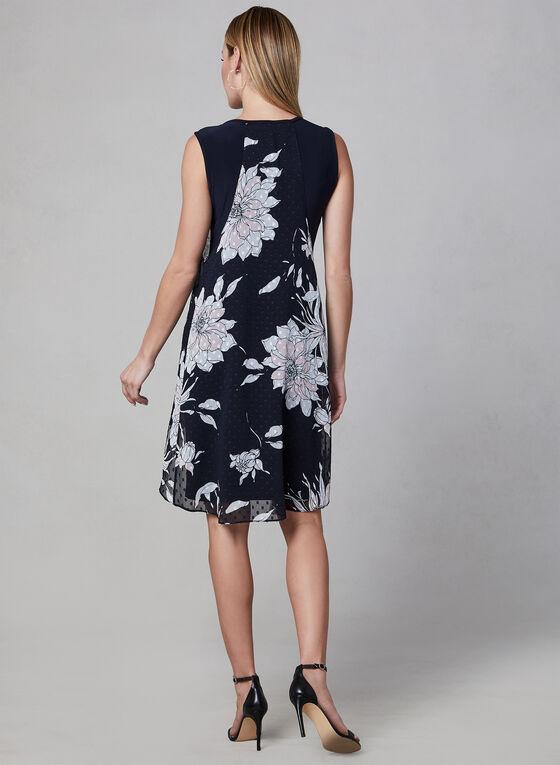 Frank Lyman - Floral Print Chiffon Dress, Blue, hi-res