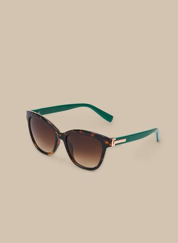 Plastic Tortoiseshell Sunglasses, Green,  sunglasses, plastic, tortoise sunglasses, plastic sunglasses, tortoiseshell, spring 2020, summer 2020