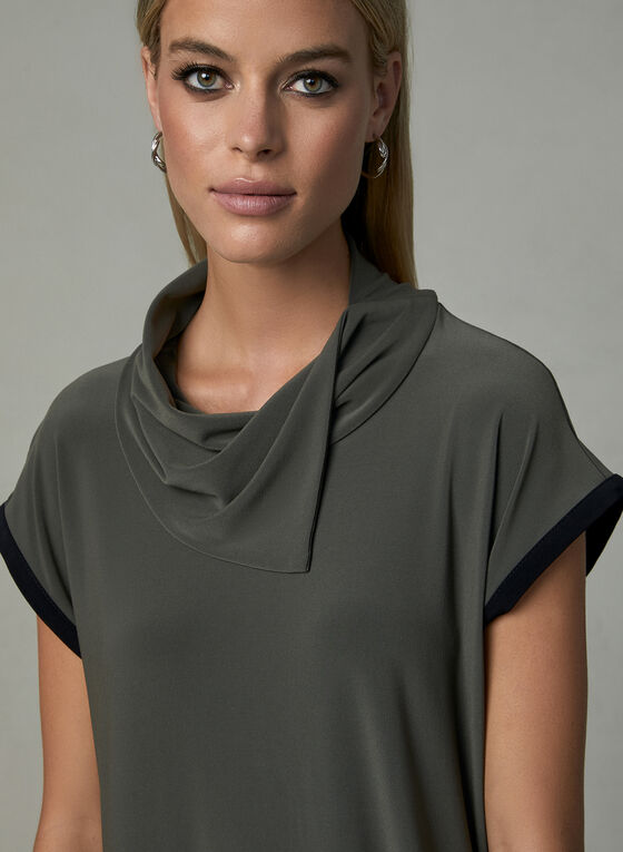 Joseph Ribkoff – Cowl Neck Blouse, Green