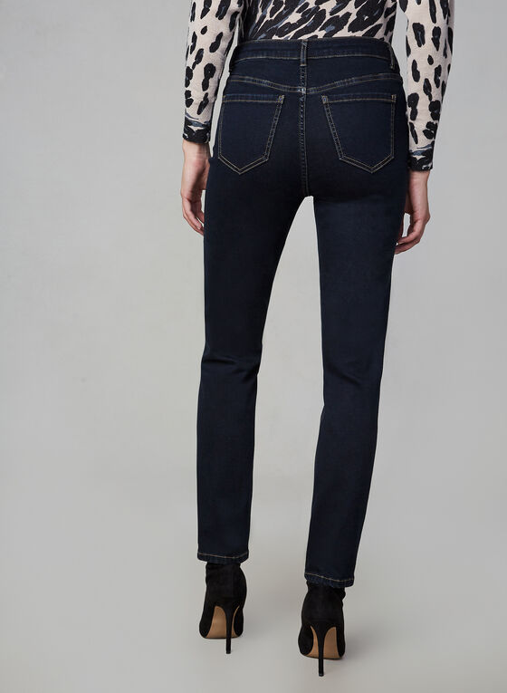 Sculpting Straight Leg Jeans, Blue