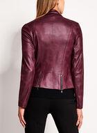 Vex - Faux Leather Zipper Trim Jacket, Red, hi-res