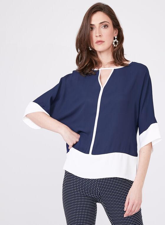 Dolman Sleeve Blouse , Blue, hi-res