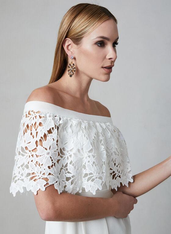 Eliza J - Combinaison en crêpe et épaules dénudées, Blanc cassé