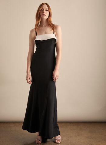 Marina - Robe à volants contrastants, Noir,  printemps été 2020, robe, robe de soirée, volants, sans manches, bustier, Marina