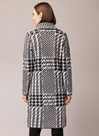 Houndstooth Print Cardigan, Black