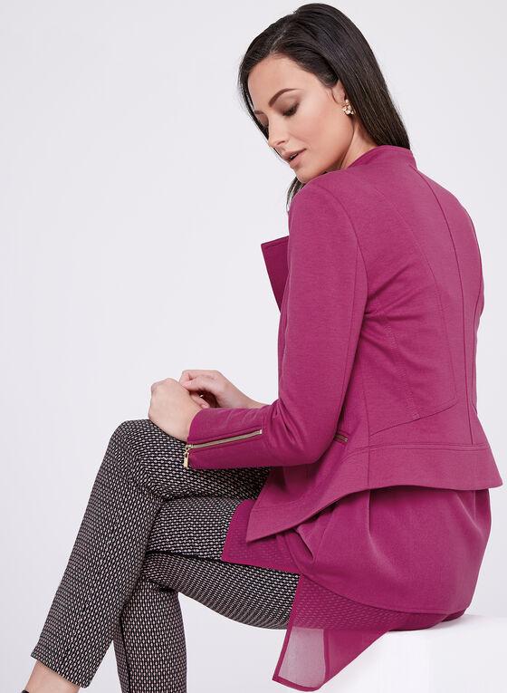 Tailored Zip Detail Jacket, Purple, hi-res