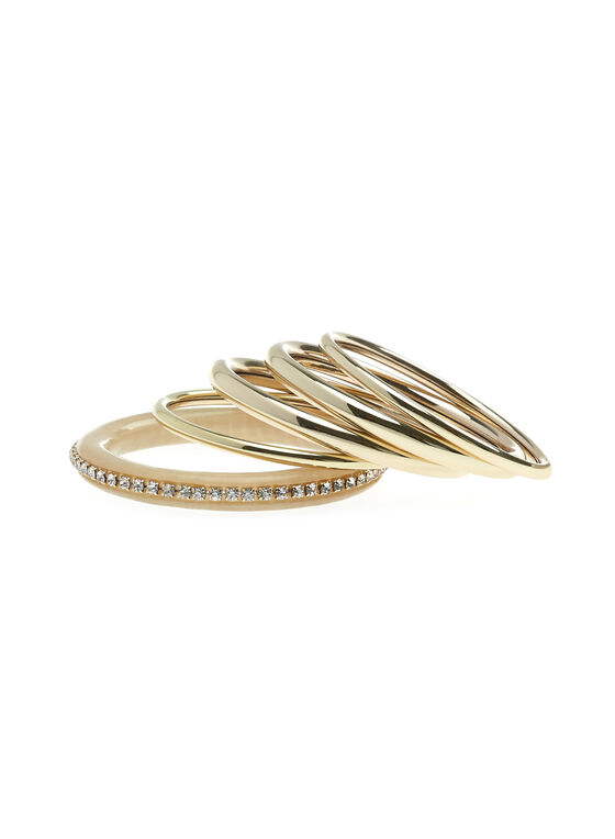 Set of Metal Bangles, Off White, hi-res