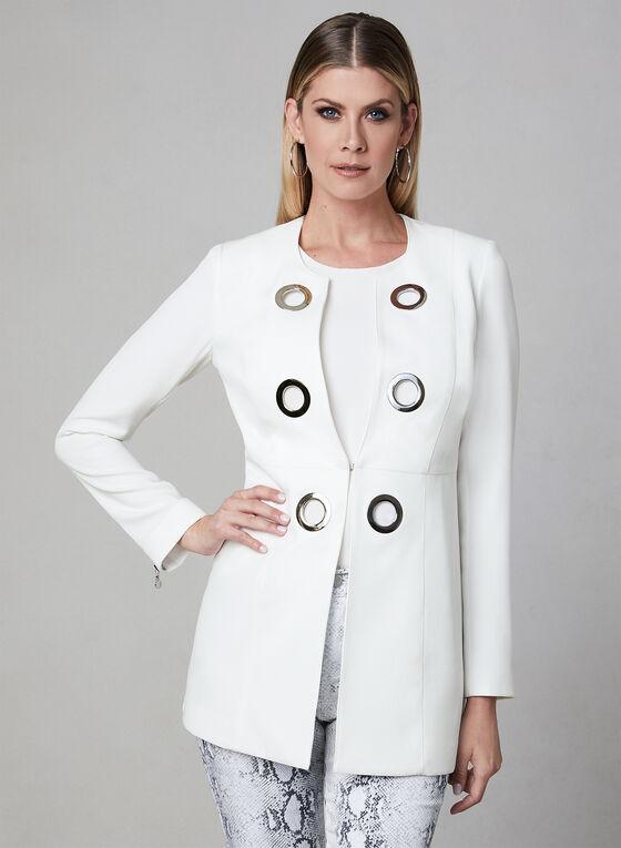 Vex - Eyelet Detail Jacket, Off White, hi-res