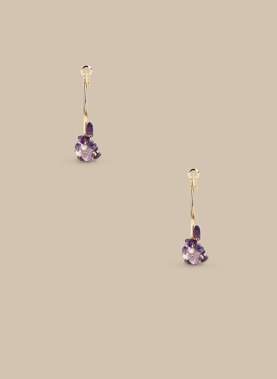 Créoles à mélange de pierres, Violet