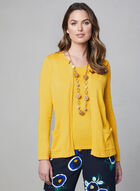 Alison Sheri - Open Front Knit Cardigan, Yellow
