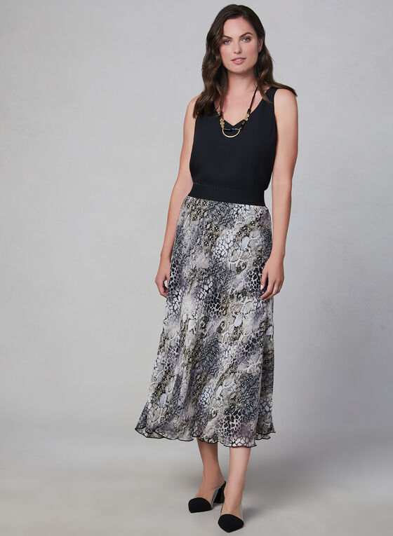 Animal Print Skirt, Black