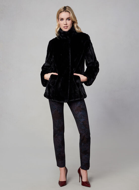 Novelti - Faux Fur Coat, Black
