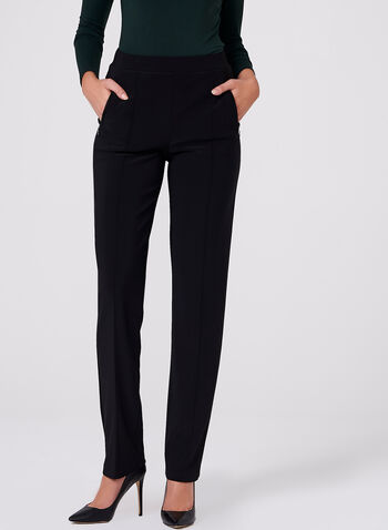 Frank Lyman - Pull-On Slim Leg Pants, Black, hi-res
