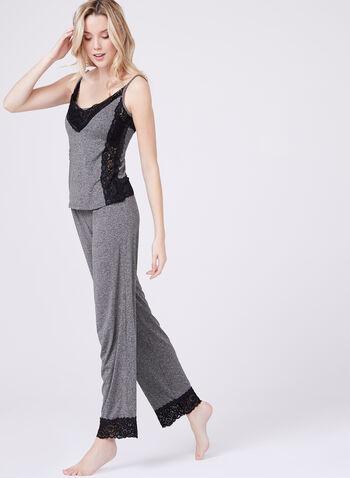 Nanette Lepore – Lace Cami Pajama Set, Grey, hi-res