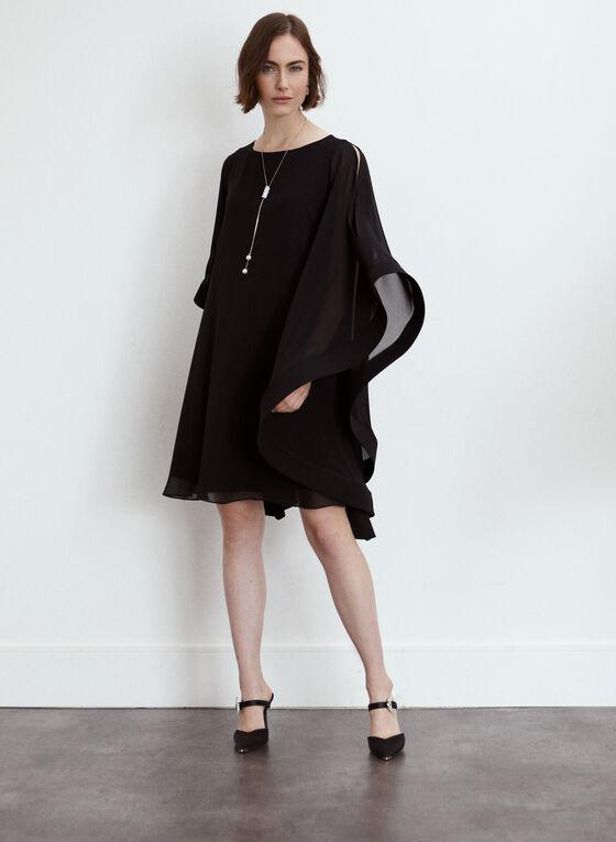 Joseph Ribkoff - Chiffon Dress, Black