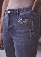 Capri à détails de perles et strass, Bleu