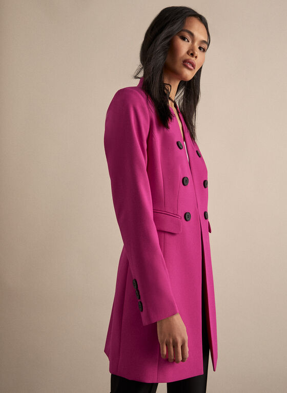 Notch Collar Redingote, Pink