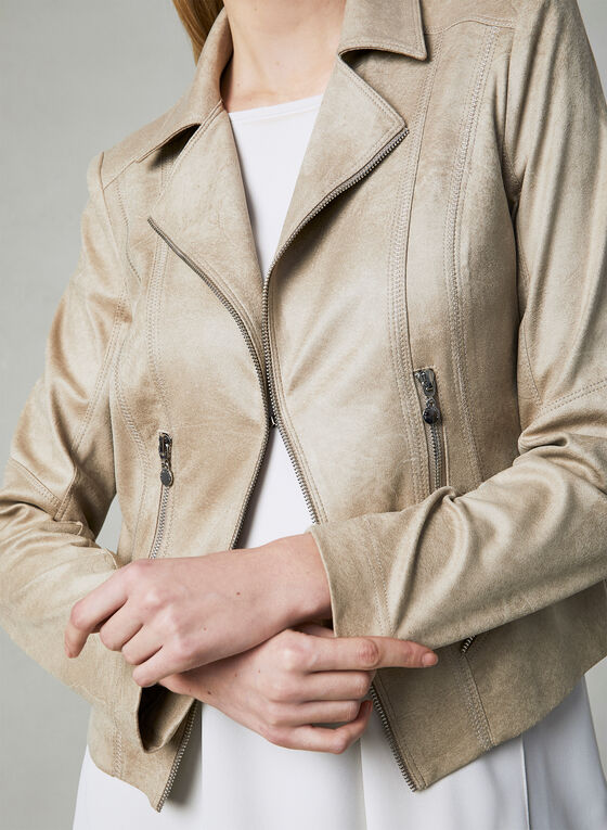 Vex - Faux Suede Jacket, Off White, hi-res