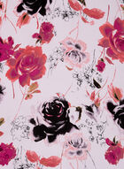 Foulard léger oblong à fleurs, Rose, hi-res