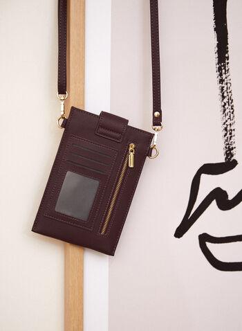 Tab Closure Cellphone Bag, Purple,  Fall winter 2021, accessory, accessories, bag, mobile, small, portable,