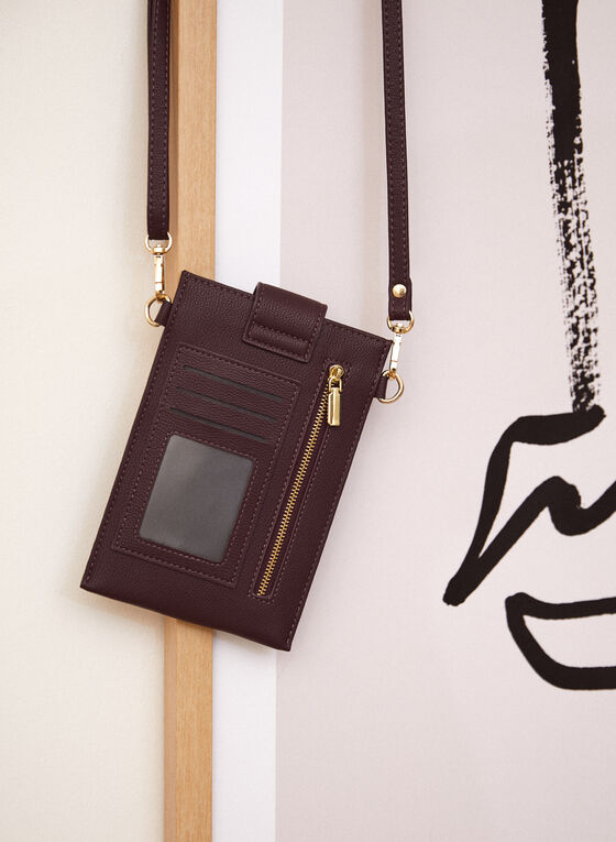 Tab Closure Cellphone Bag, Purple