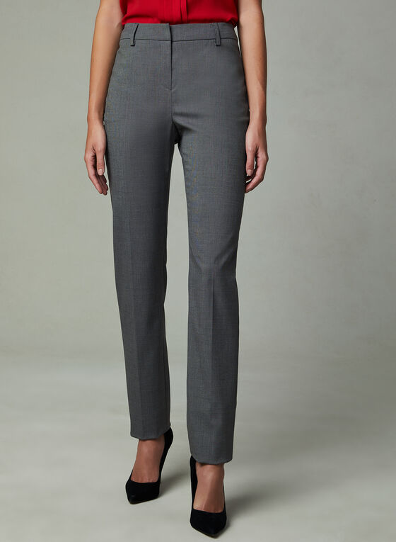 Louben - Slim Leg Pants, Grey, hi-res