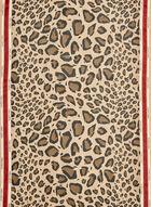 Vince Camuto - Foulard à imprimé léopard, Brun, hi-res