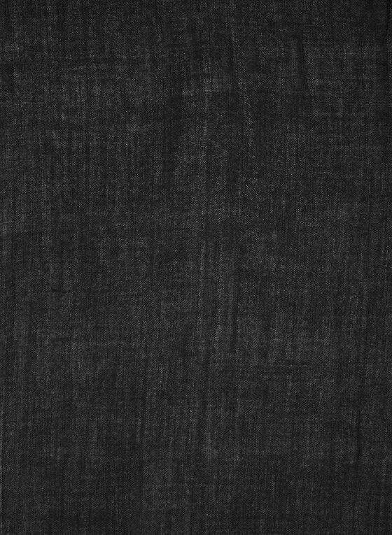 Foulard pashmina à franges, Noir, hi-res