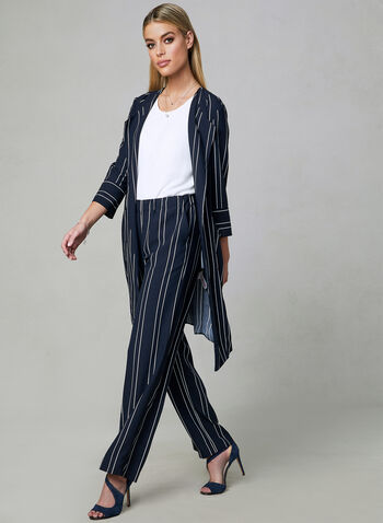 Stripe Print Wide Leg Pants, Blue, hi-res,  pull-on, spring 2019