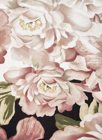 Foulard léger à imprimé floral, Rose, hi-res,