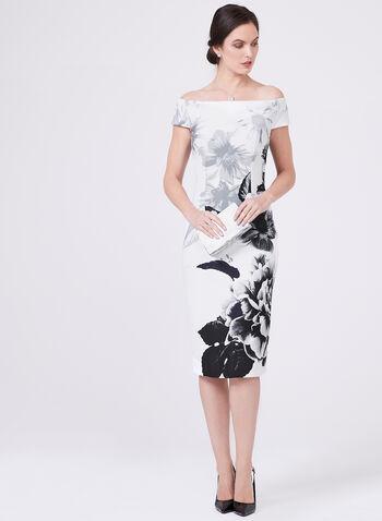 Ignite Evenings – Floral Print Wiggle Dress, Black, hi-res