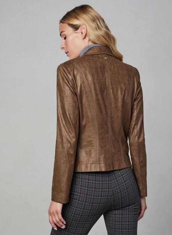 Vex - Blazer en faux cuir, Brun