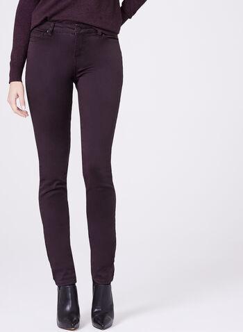 The Super Soft Slim Leg Tummy Control Jeans, Purple, hi-res