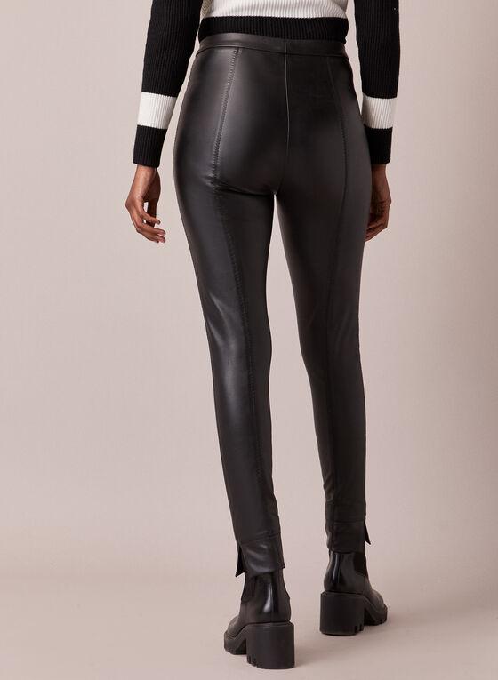 Vegan Leather Leggings, Black