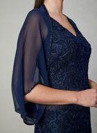 Vince Camuto - Embellished Chiffon Bolero, Blue, hi-res