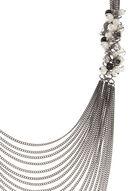 Collier à plusieurs chaînes et grappes de perles, Gris, hi-res