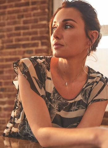 Vince Camuto - Tropical Print Flutter Blouse, Black,  top, blouse, flutter, tropical, sleeveless, spring summer 2021