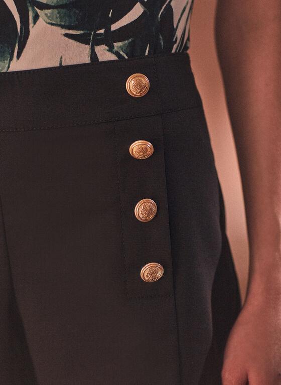 Short à boutons, Noir
