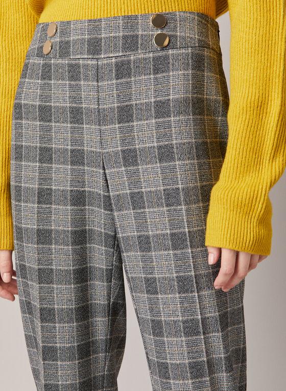 Pantalon Amber à jambe étroite, Brun