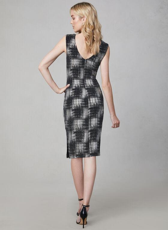 Frank Lyman - Metallic Sheath Dress, Black, hi-res