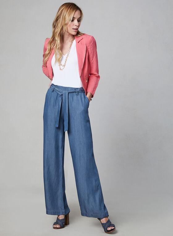 Linea Domani - Pantalon large en tencel, Bleu, hi-res