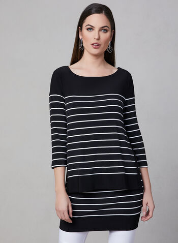 Frank Lyman - Jersey Popover Dress, Black, hi-res