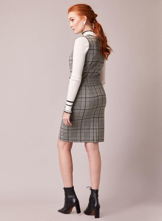 Plaid Sheath Dress, Black