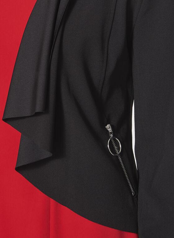 Open Front Cascade Blazer, Black, hi-res